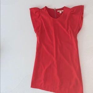 Salmon colored dress
